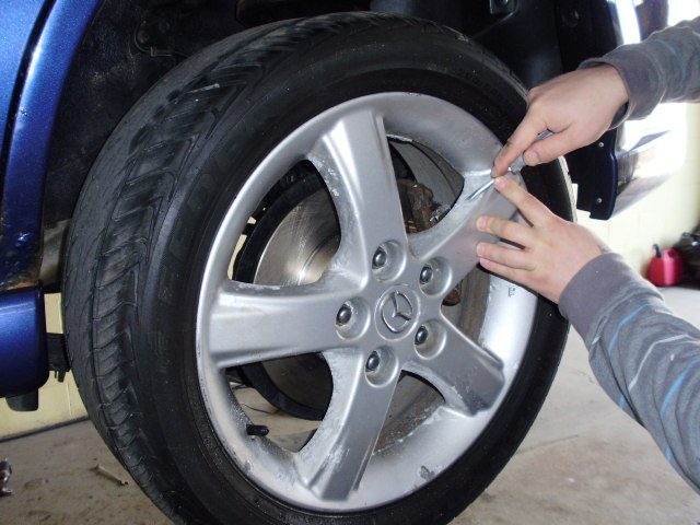 Sanding And Painting Car Rims